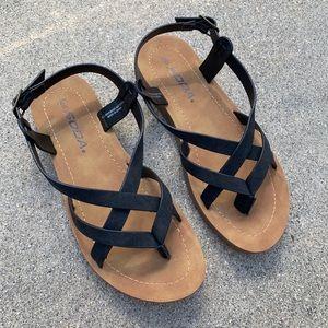 Soda Cross Strap Soft Sole Sandals